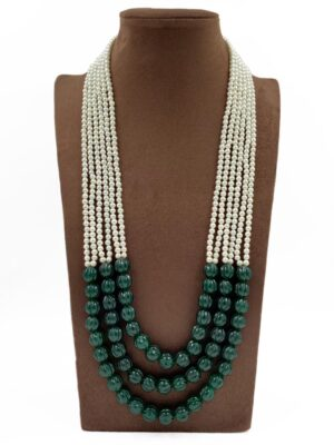 Emerald Beads Necklace Designs