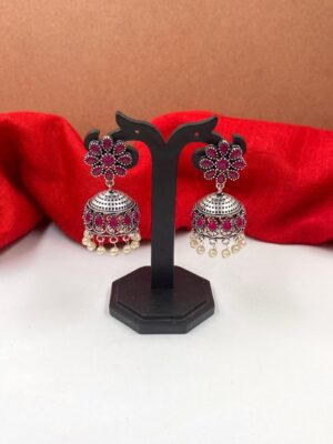 Silver Jhumka For Girls