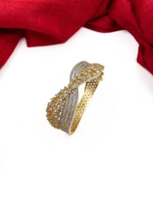 Buy latest American Diamond bracelets online for ladies. Silver plated bracelet for parties, weddings, giftings. Goes with Indian and western attire